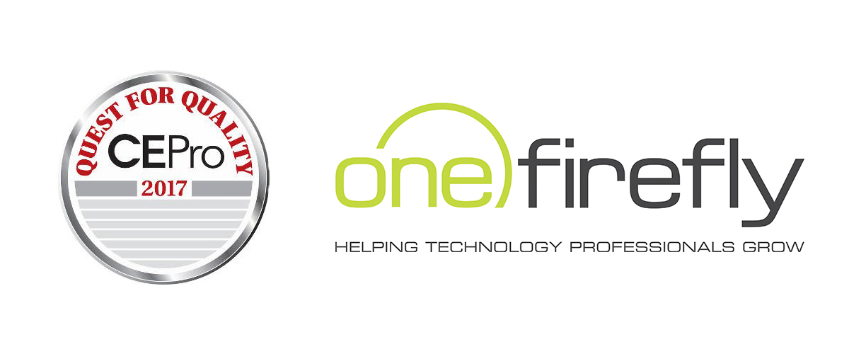 One Firefly Recognized in CE Pro's Quest for Quality Awards